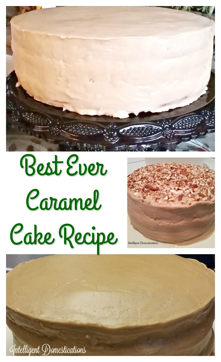 Best Caramel Cake recipe ever. The cake is made from scratch and the Caramel Frosting is made from scratch. #caramelcake