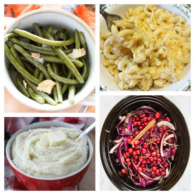 Crockpot Side Dish Recipes for Thanksgiving or any time of the year. Easy Slow Cooker Side Dish recipes. #Thanksgiving #Crockpot #Sidedish