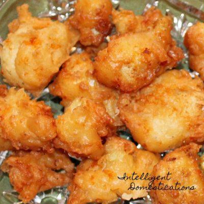 Cheddar Fried Cauliflower Bites