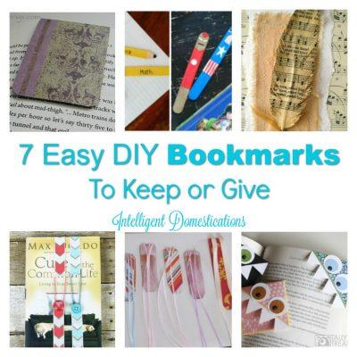 DIY Bookmarks & 3 Clever Repurposed Book Ideas
