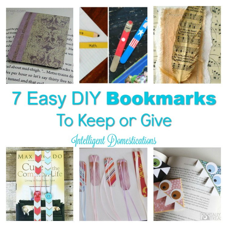 7 Easy DIY Bookmarks to keep or give. DIY Bookmarks. DIY Bookmark Ideas
