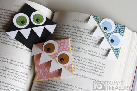 Tallystreasury Monster Bookmarks www.intelligentdomestications.com Make Your Own Bookmarks