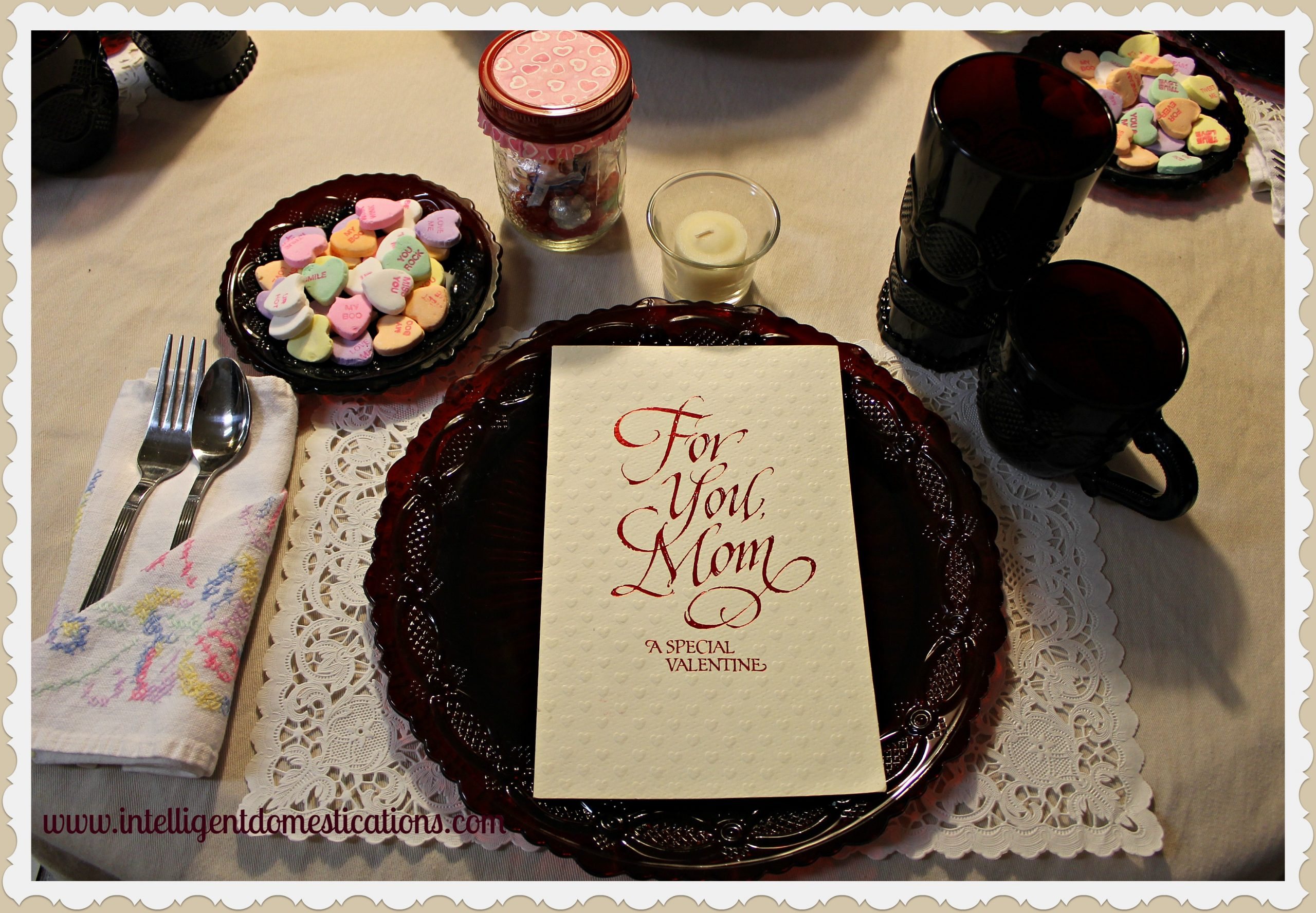 Create a Valentine Tablescape and Mantlescape Using Everyday Items