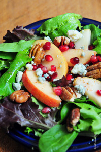 Apple Pear Salad with Pomegranate Vinaigrette by Add A Pinch