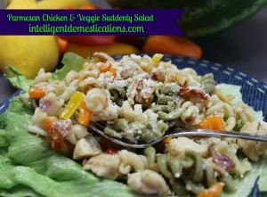 Parmesan Chicken & Veggie Suddenly Salad.intelligentdomestications.com