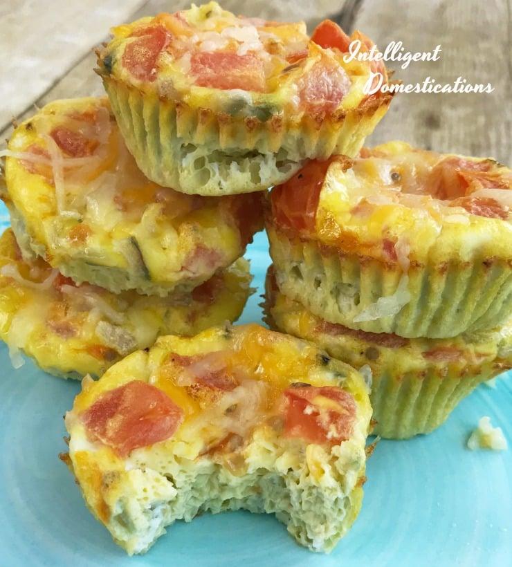 Baked Egg & Veggie Muffin Omelets