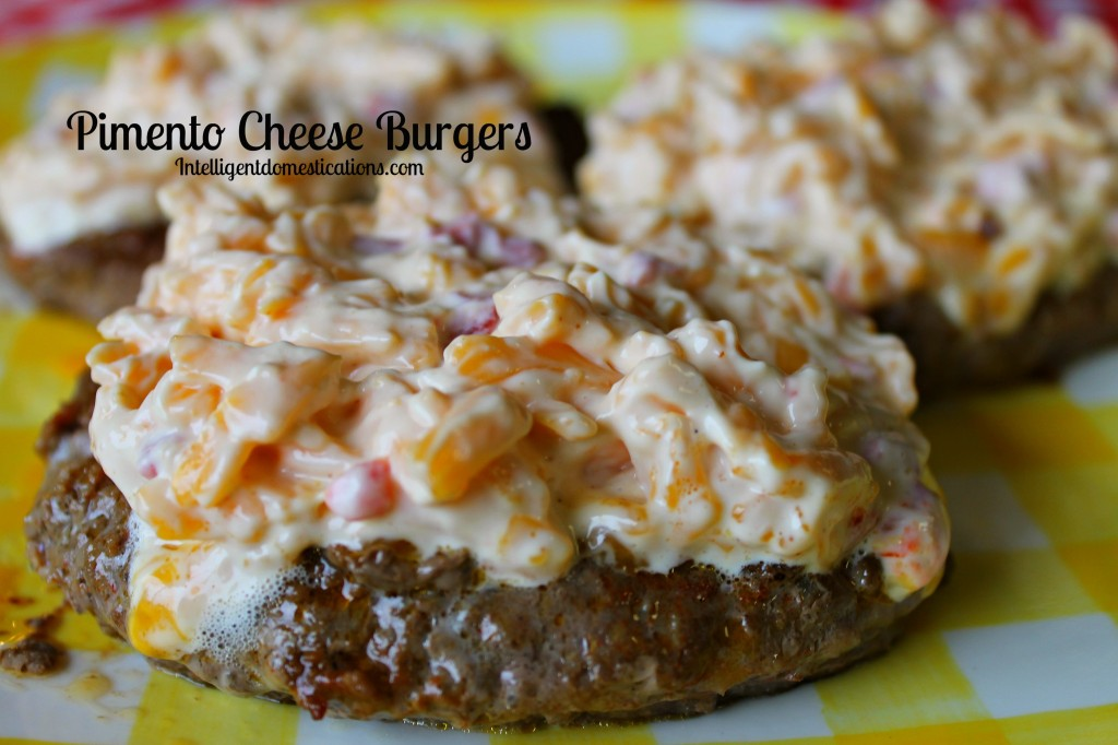 Pimento Cheese Burgers.Low Carb when served with no bun.#lowcarb intelligentdomestications.com