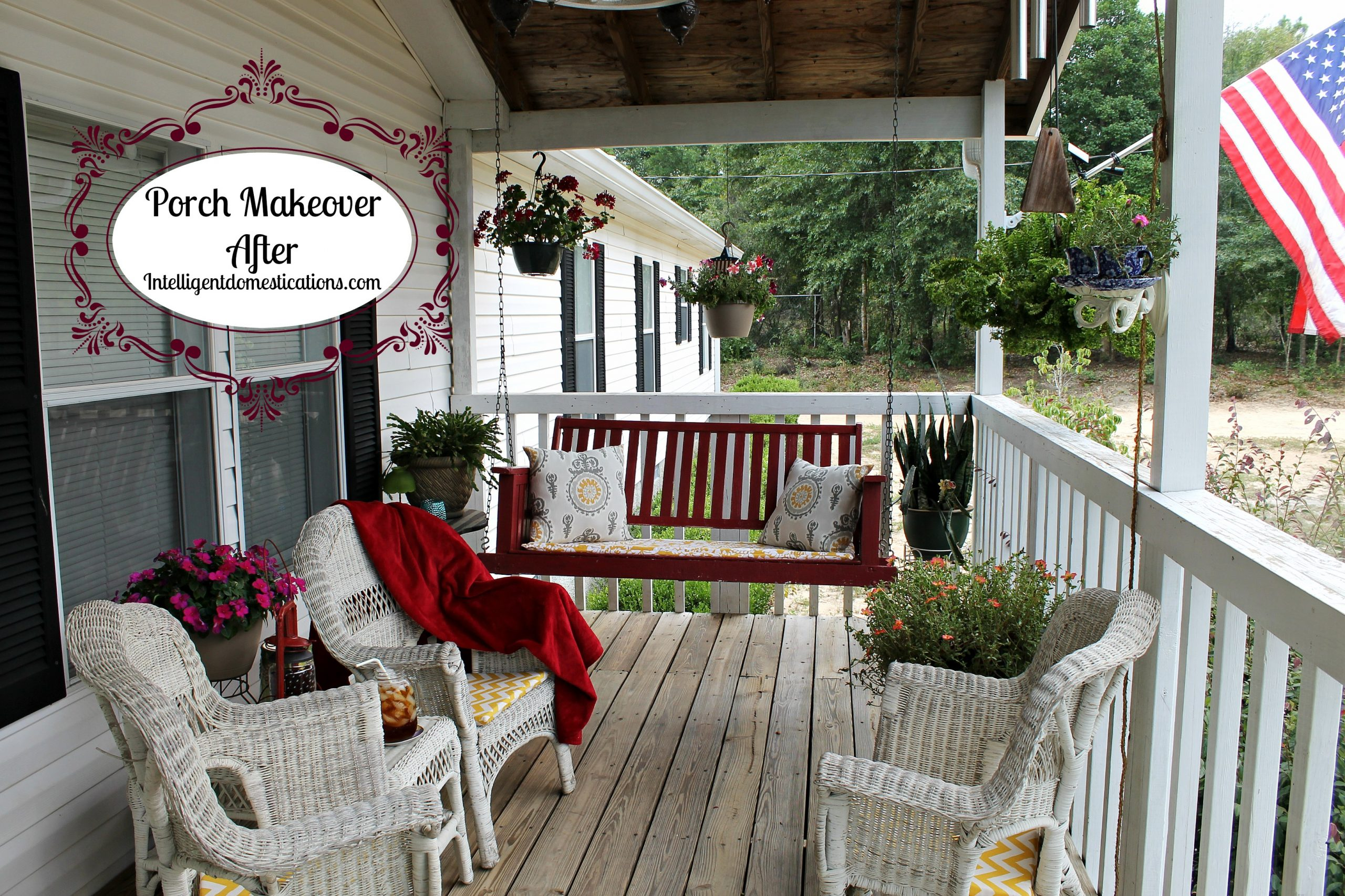 Our Budget Friendly Porch Makeover Reveal
