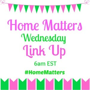 Home Matters Pink and Green.Time included. Wednesday Link Up Banner.intelligentdomestications.com