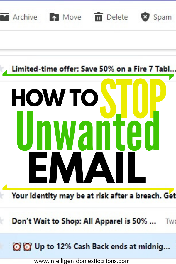 How To Stop Unwanted Email