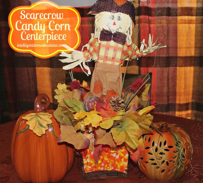 Scarecrow Candy Corn Centerpiece