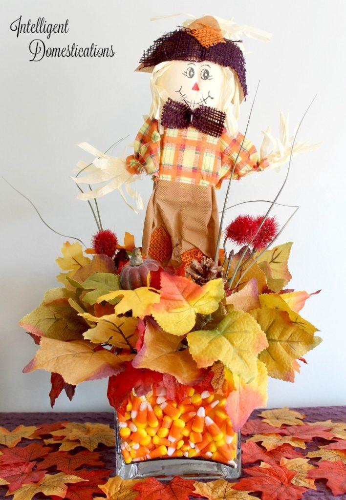 DIY Scarecrow Dollar Store Craft