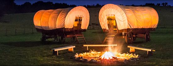Conestoga Wagons at The Rock Ranch