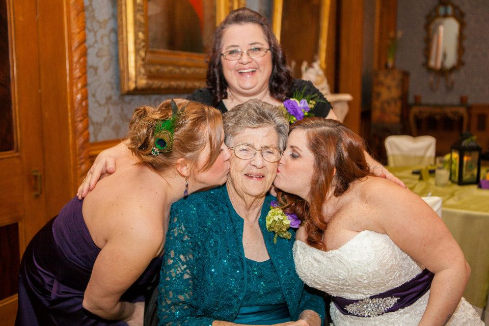 Momma, Me, Tif and Tresa at Tif's wedding. Jan. 20 2012
