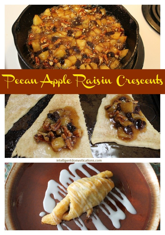 Pecan Apple Raisin Crescents