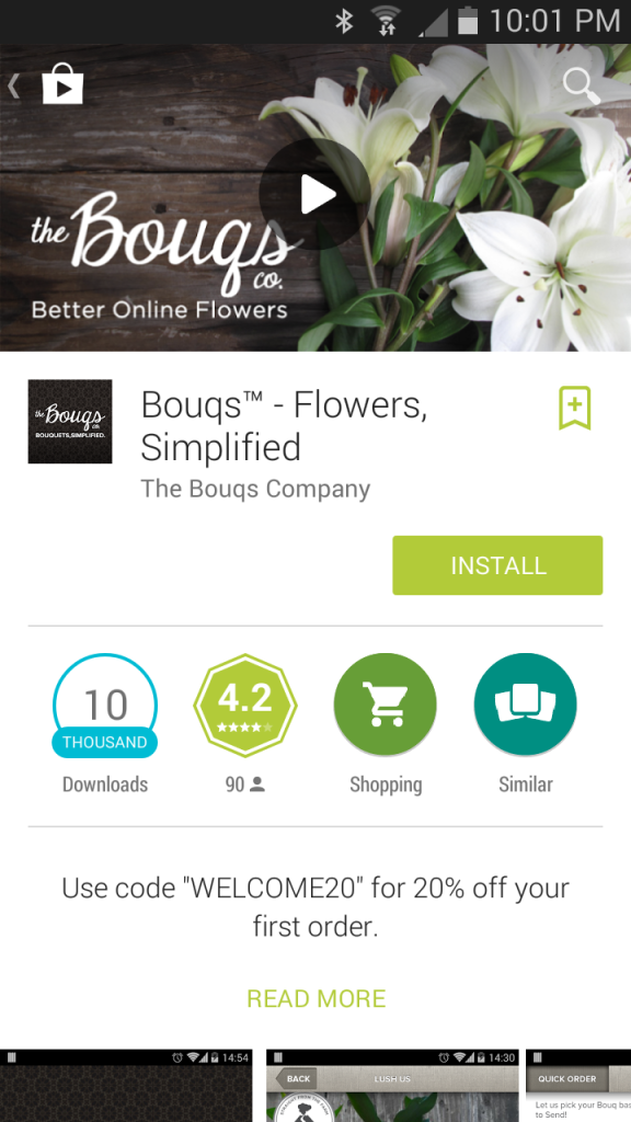 The Bouqs App