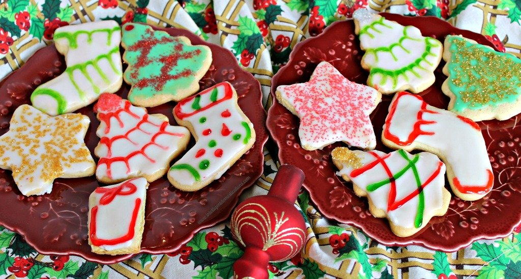 Christmas Cookies made from an Old Fashioned Tea Cake Recipe. Find this and much more at www.intelligentdomestications.com