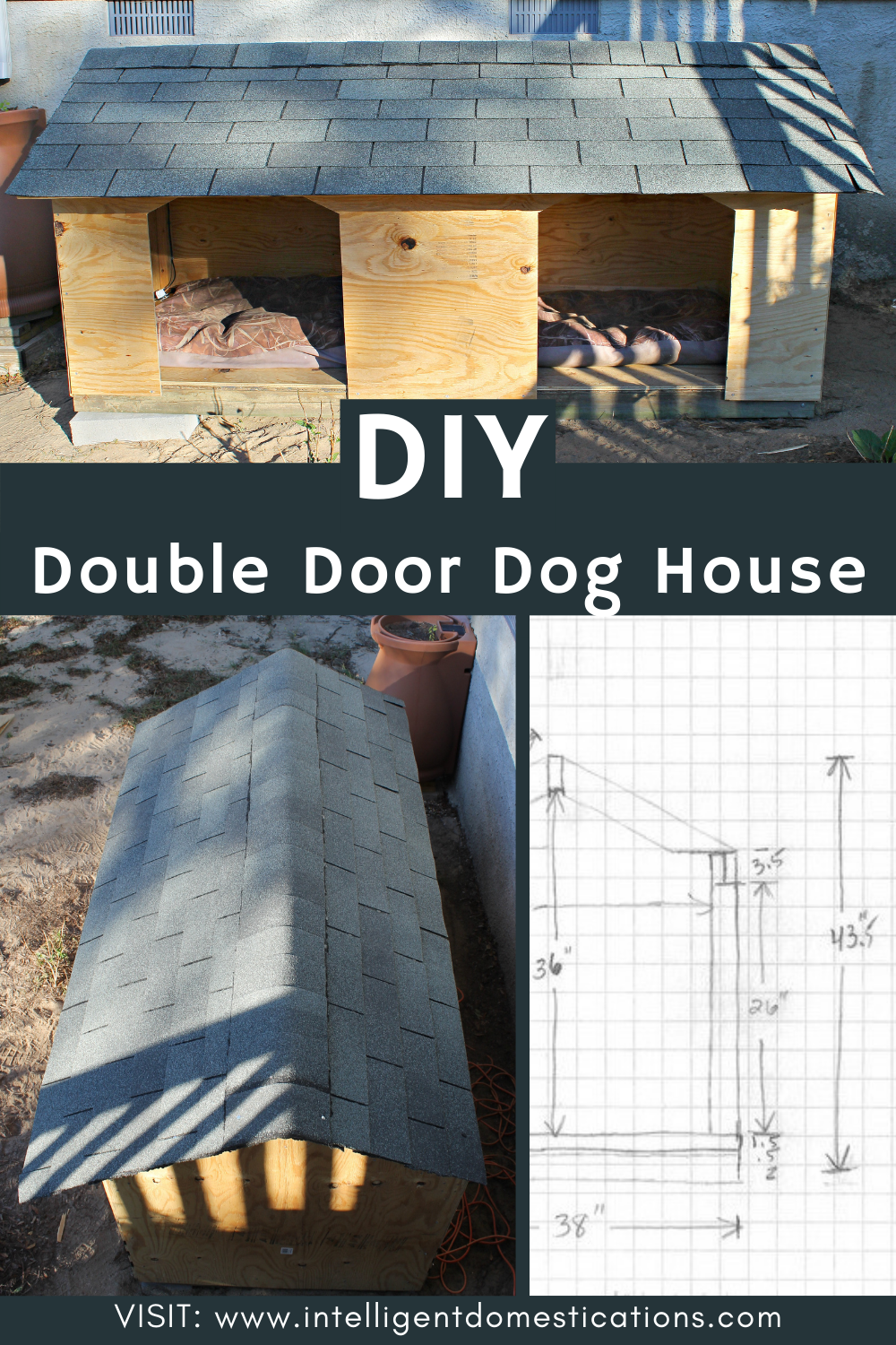 Pictures of a Double Door Dog House