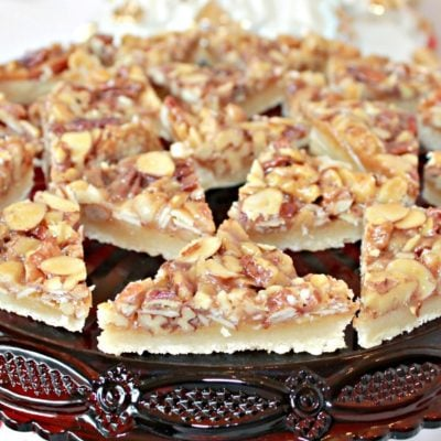 Triple Nut Diamond Bar Cookies