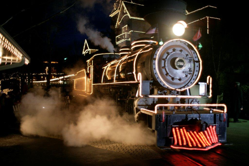 Christmas train at Dollywood. Pigeon Forge Tennessee.photo courtesy of Dollywood