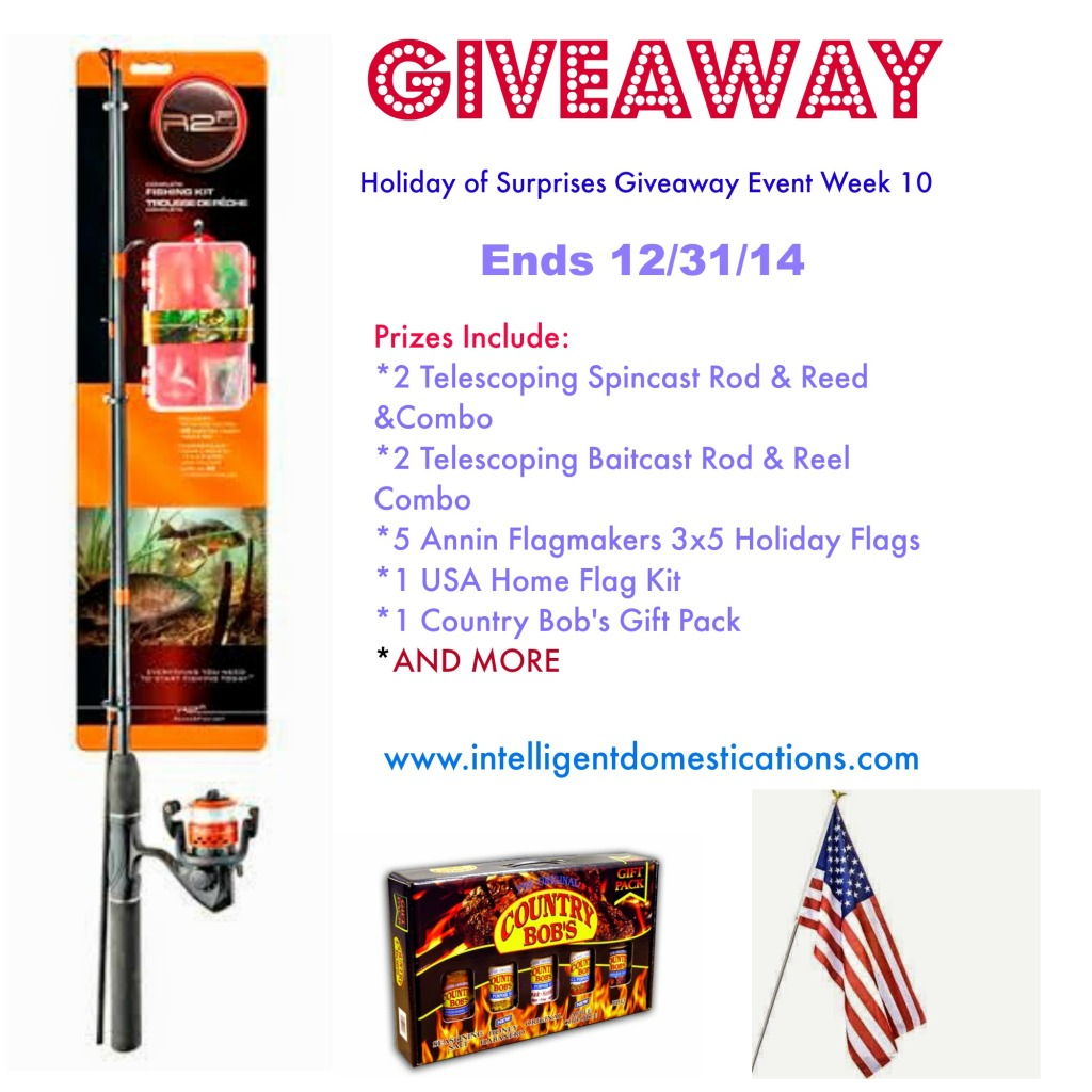 Giveaway Event Week 10 Ends 12.31.14. enter at www.intelligentdomestications.com