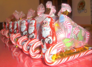 DIY Santa's Candy Sleigh Christmas party favor for children