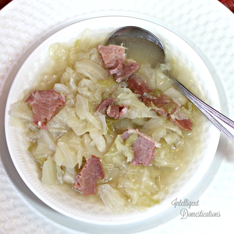 Southern Cabbage Soup with ham recipe
