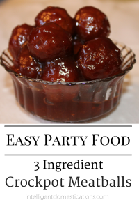 3 Ingredient Meatballs easy recipe. It's a Crockpot recipe recipe ready in just a couple hours. Perfect for feeding crowds for special occasions. #meatballs #easyrecipe #Crockpotrecipe Easy BBQ Meatballs recipe for party food.