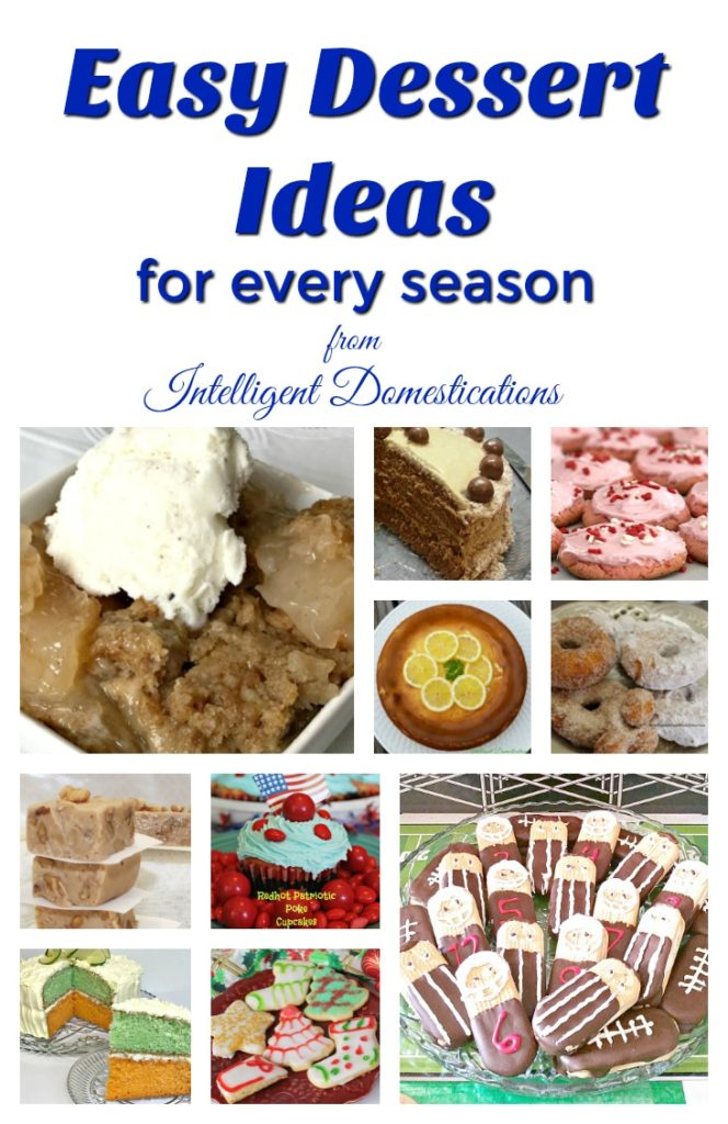 Easy dessert ideas for every season. We love easy recipes and that means our desserts have to be easy also. Cakes, Cookies, Candy, Pastries and all things for the sweet tooth.
