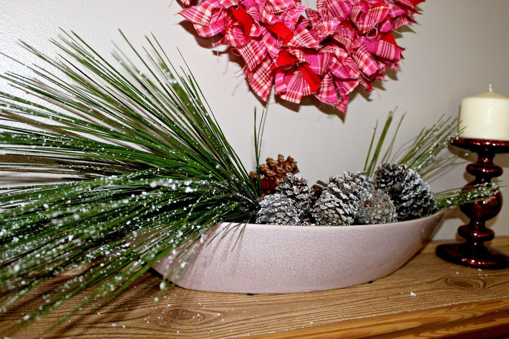 Faux iced pine cones and branches.intelligentdomestications.com