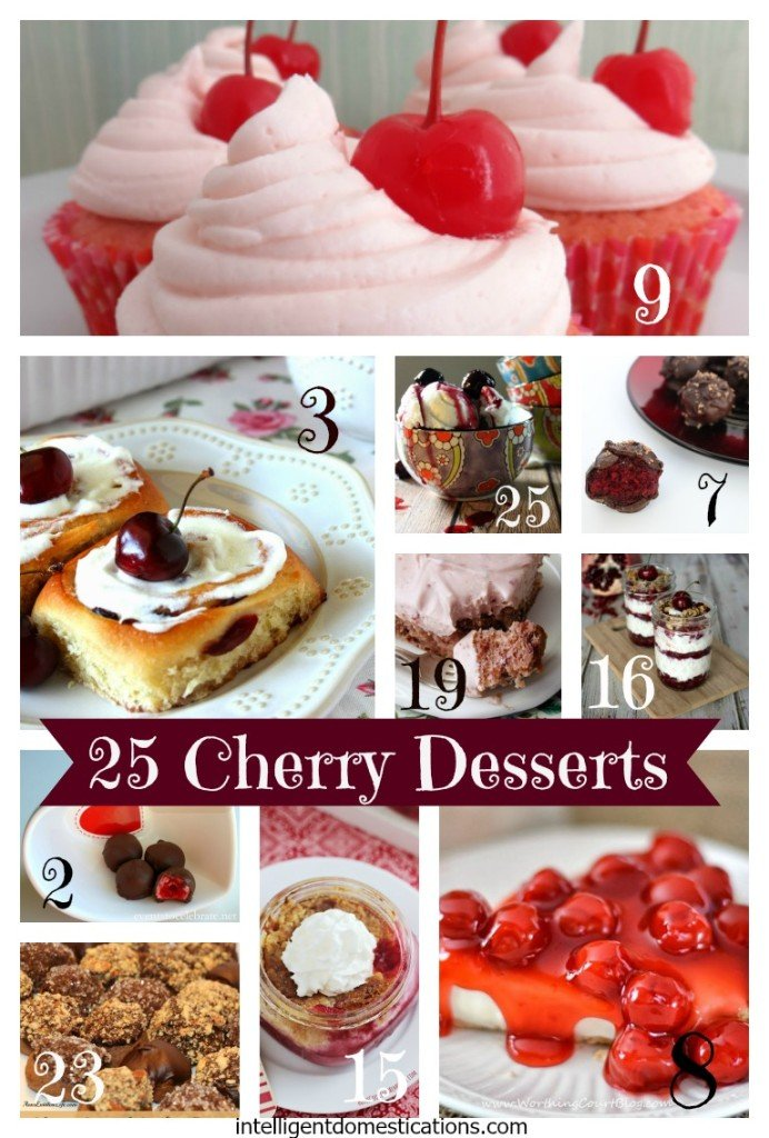 25 Cherry Desserts found at www.intelligentdomestications.com