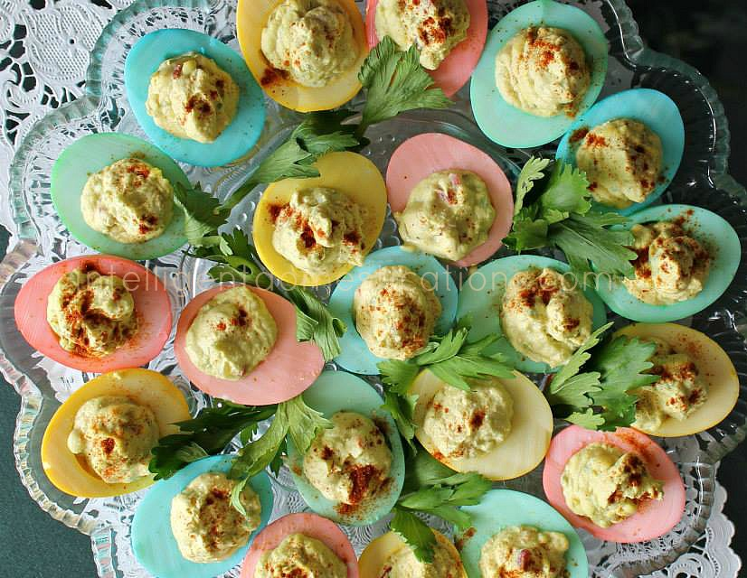 Pastel Rainbow Deviled Eggs