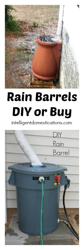 Rain Barrels DIY or Buy. Comparison at intelligentdomestications.com