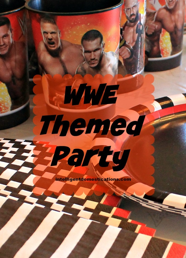 WWE Themed Party Ideas. Wrestling Party Ideas for birthday, Wrestlemania or Pay Per View events. #wrestlingparty