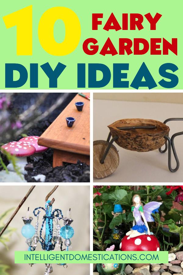 Fairy Garden miniature DIY decorations you can make for your outdoor Fairy Garden. Fairy Garden ideas. #fairygarden