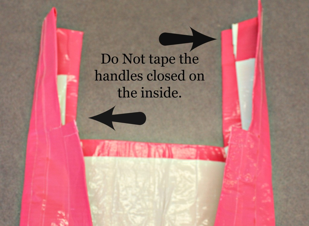 DO NOT Tape this gap in  the handles