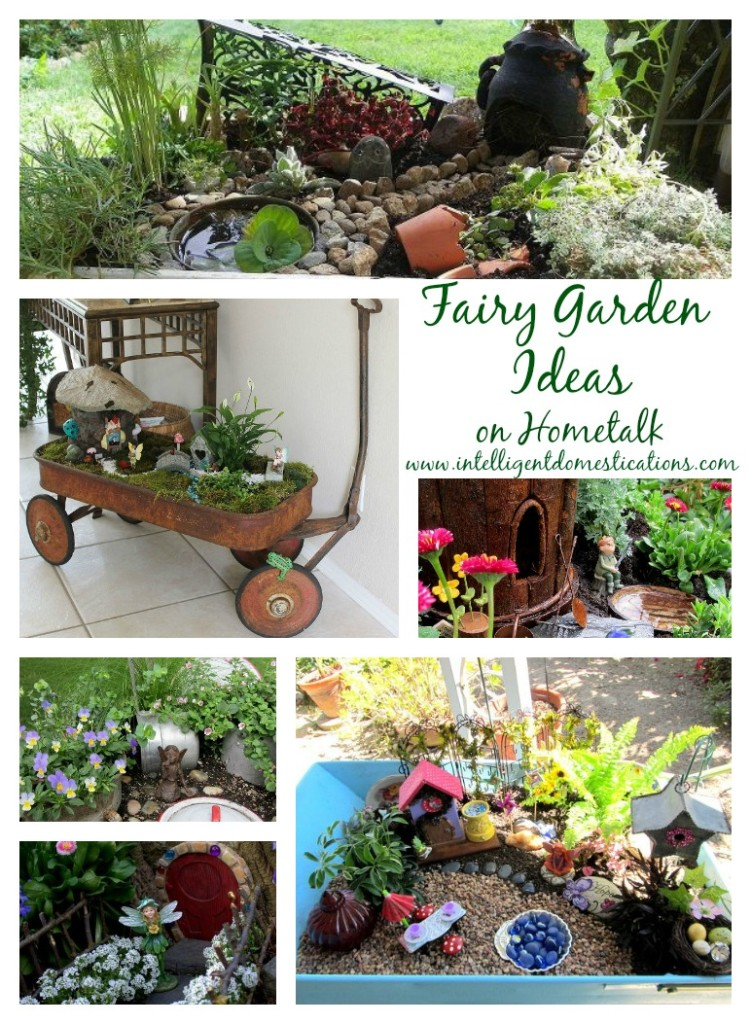 Fairy Garden Ideas on Homtalk by www.intelligentdomestications.com