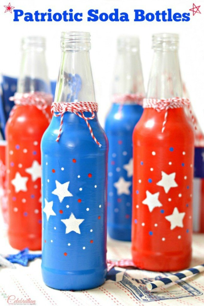 Patriotic Soda Bottles