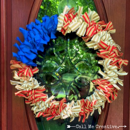 Red, White & Blue Burlap wreath