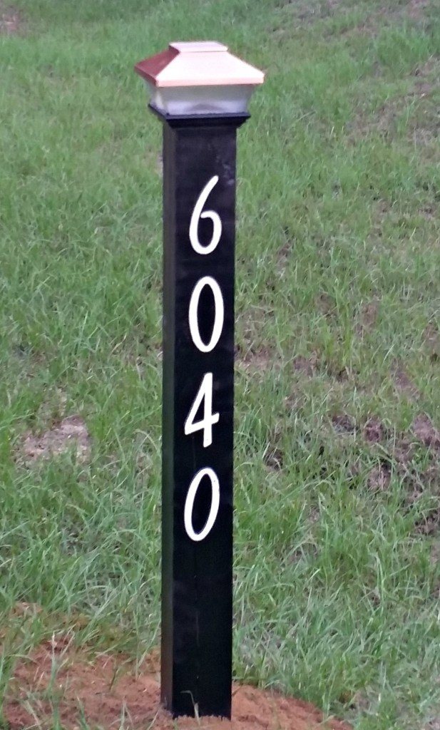 How to make a solar lighted street address post for your home