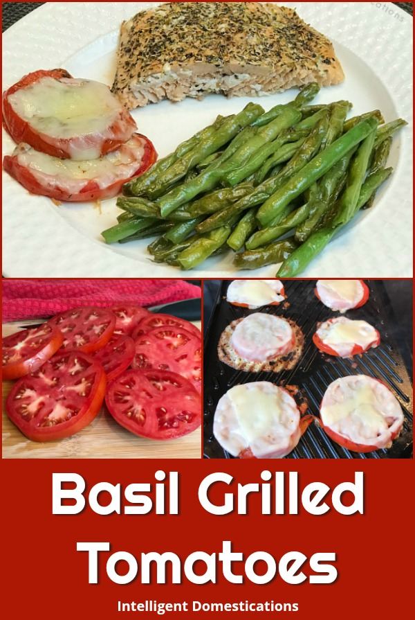 How to make Basil Grilled Tomatoes with melted provolone. Delicious Summer side dish using fresh tomatoes. Grilled Tomato Recipe. How to cook tomatoes on a stove top griddle. #grilledvegetables #summervegetables @grilledtomatoes #tomatorecipe #summerfood