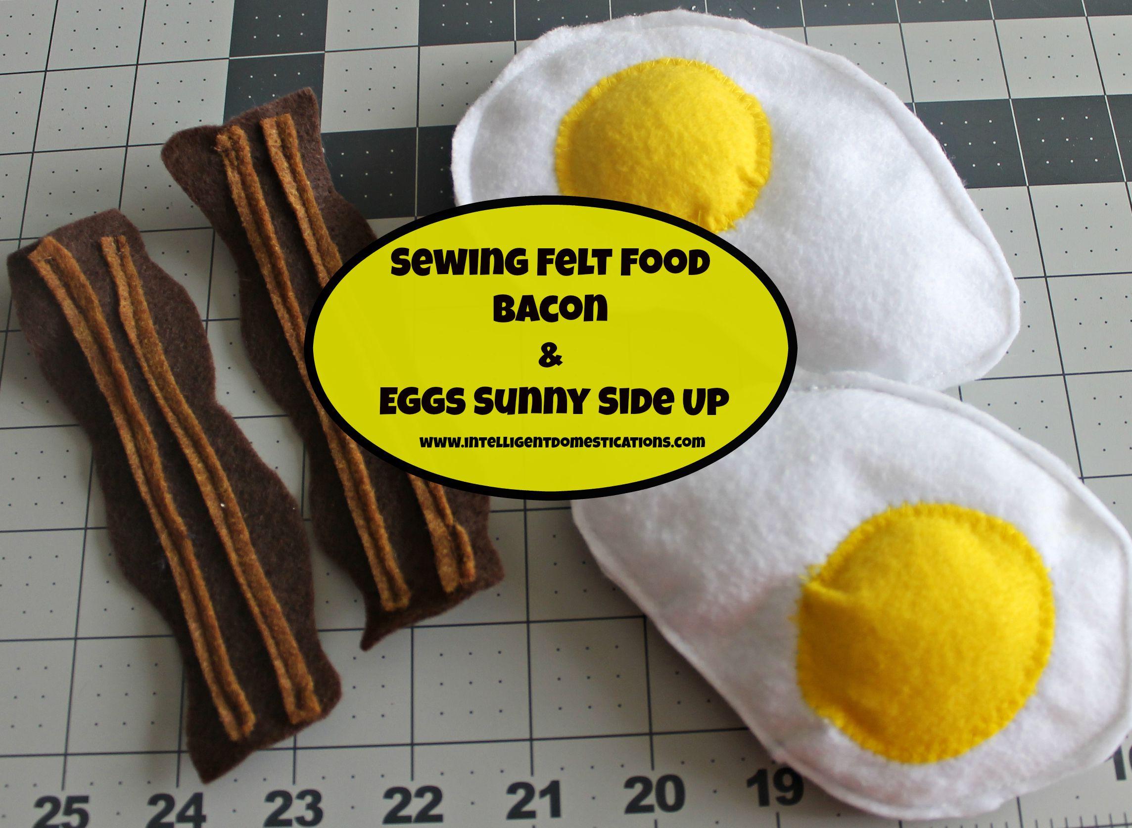 Felt Food Bacon & Eggs Sunny Side Up
