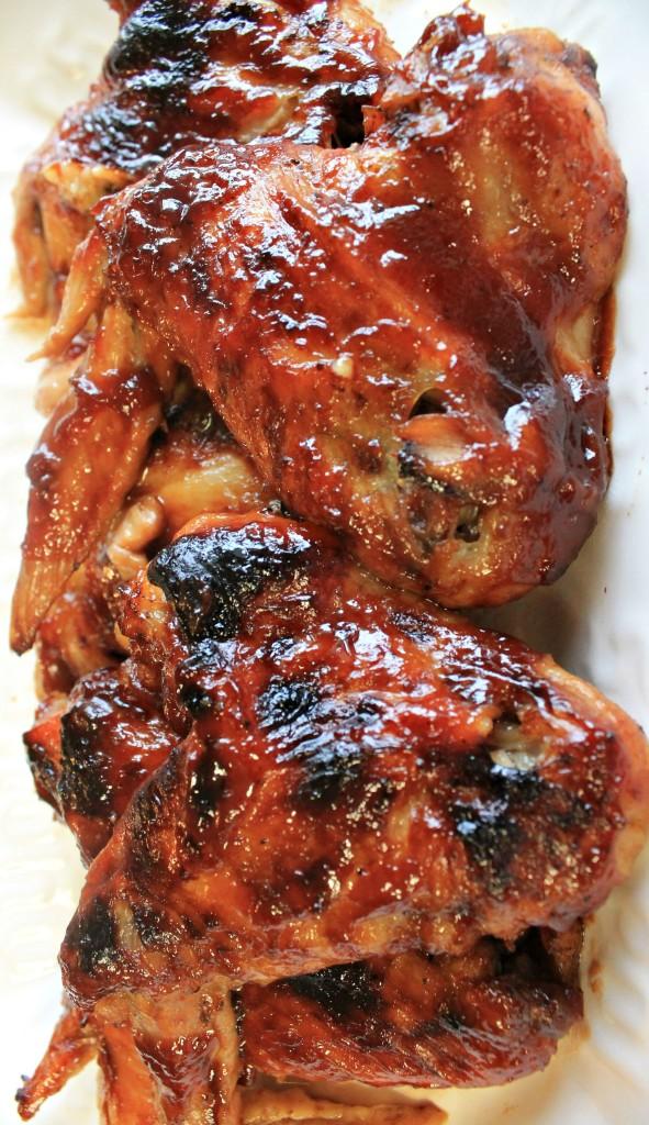 3 Ingredient Crockpot BBQ Chicken Wings.1 at www.intelligentdomestications.com