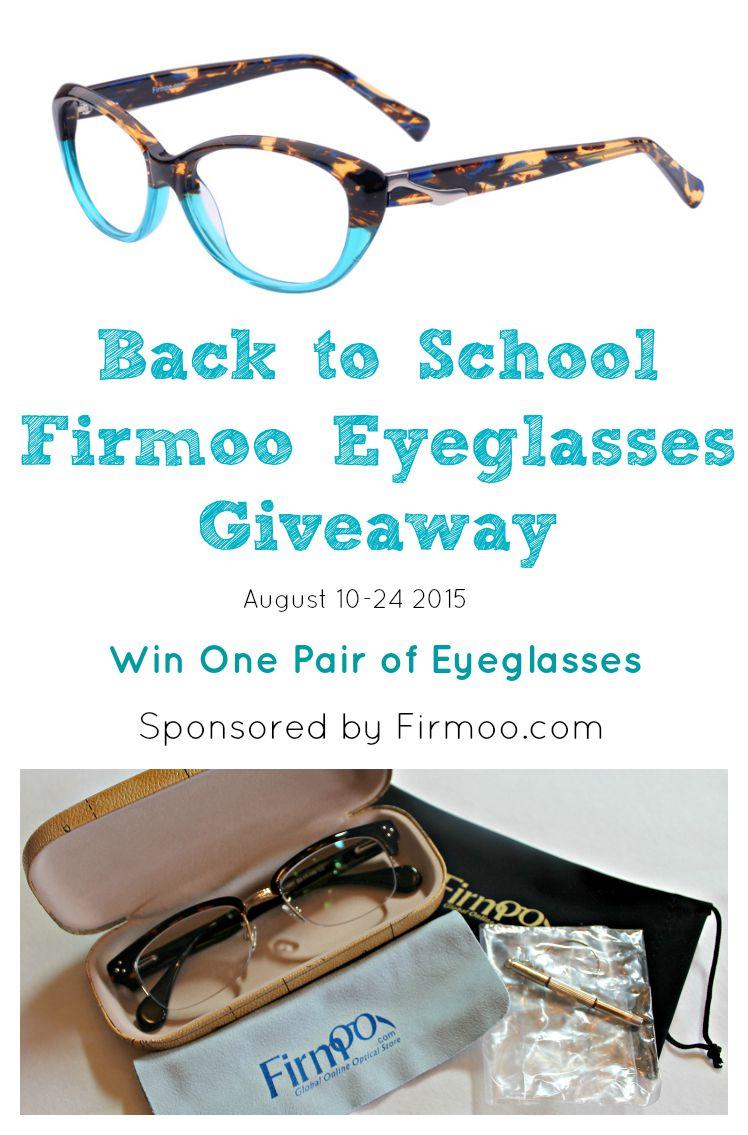 Back To School Firmoo Eyeglasses Giveaway