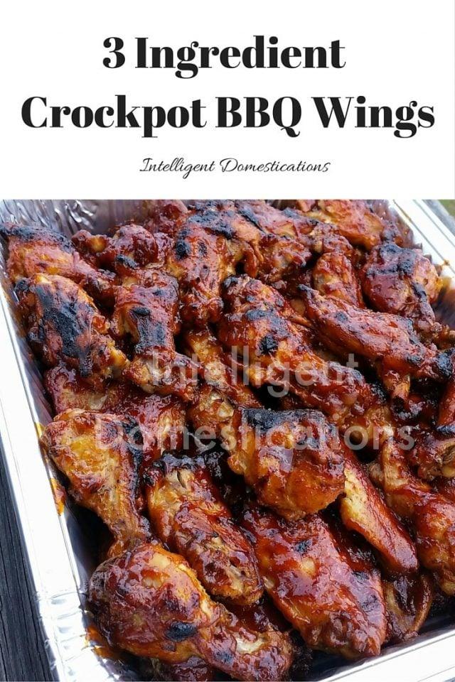3 Ingredient BBQ Wings recipe. Crockpot BBQ Wings recipe. BBQ Wings Recipe. 3 Ingredient BBQ Wings Recipe. #BBQWings #Crockpotwings #Footballfood #Summerfood #fallfood #wingsrecipe #bbq #slowcookerwings