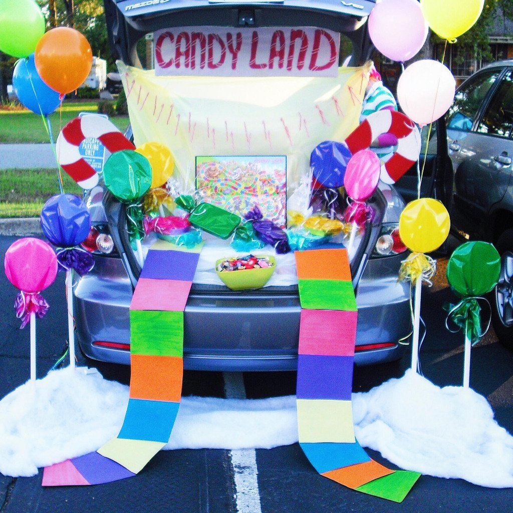 Candyland Trunk or Treat design by Sprinkledevents. 21 Clever Trunk or Treat Ideas. Trunk or Treat design ideas. Trunk or Treat