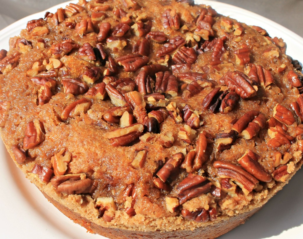 Pumpkin Streusel Coffee Cake recipe made in the Crockpot. An easy and delicious Fall coffee cake dessert made not quite from scratch.