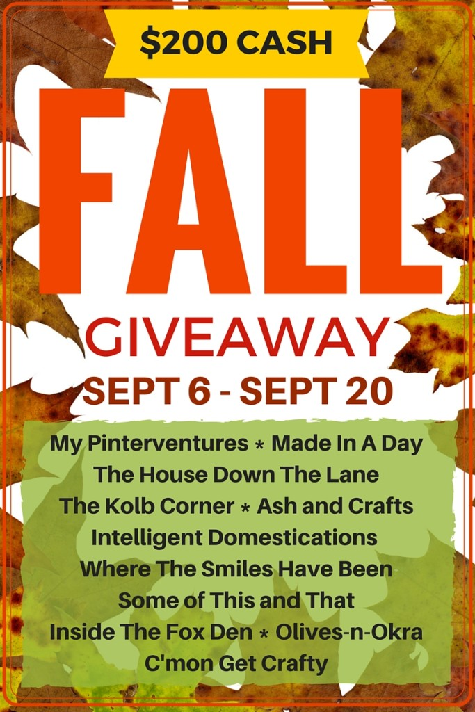 $200 Paypal Cash Fall Giveaway intelligentdomestications.com