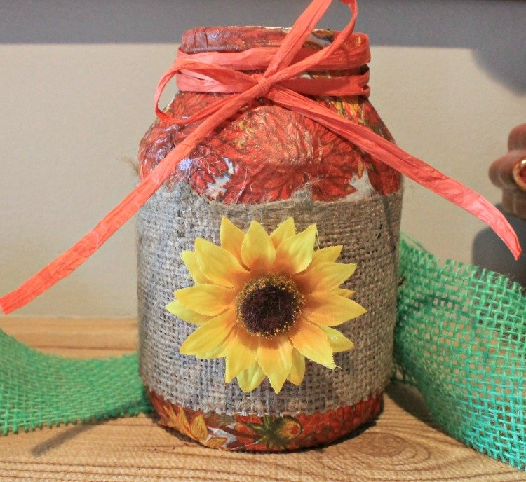 Frugal Fall Decor. Mod Podge Fall Decor #modpodge