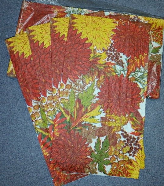 Fall napkins for Mod Podge project